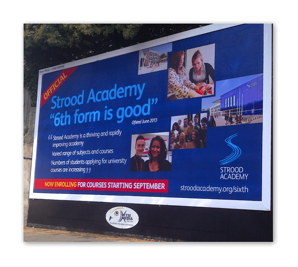 Strood Academy 48 Sheet School Advertising