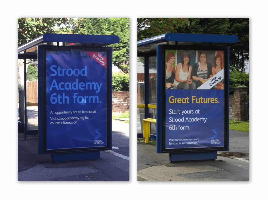 Strood Academy Bus Shelter Ads