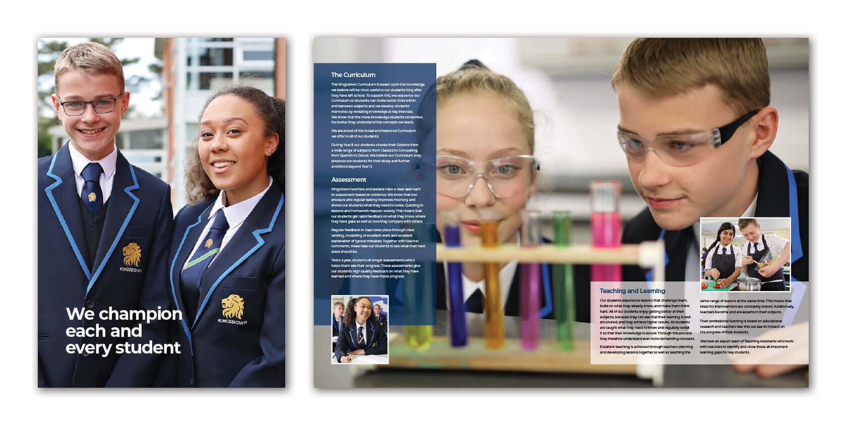 Kingsdown School Prospectus Design