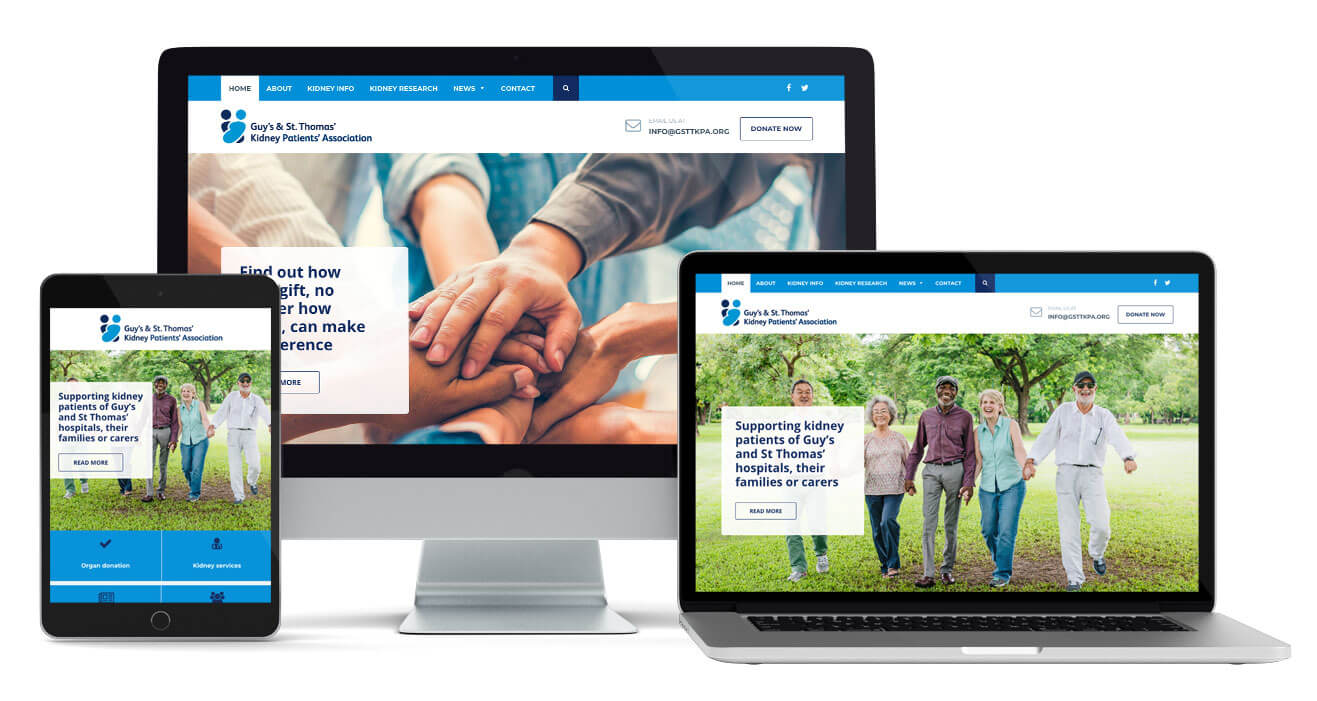 Charity website design helps support kidney patients