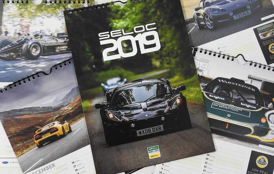 Lotus Sports Cars 'SELOC' Calendar 2019