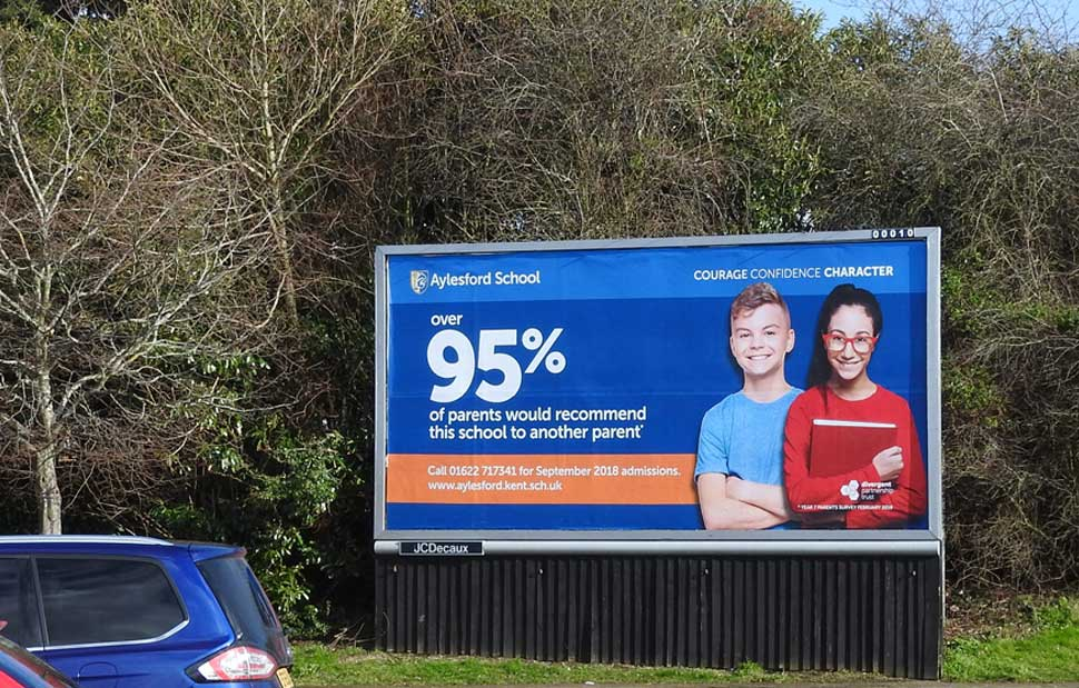 aylesford school billboard