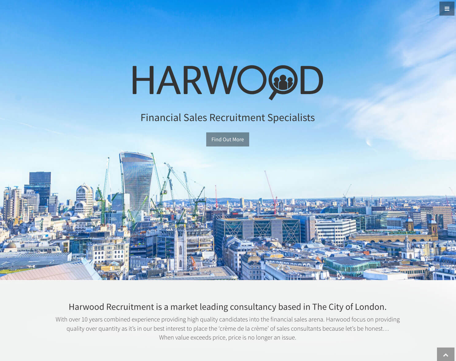 Harwood Recruitment employs new responsive microsite