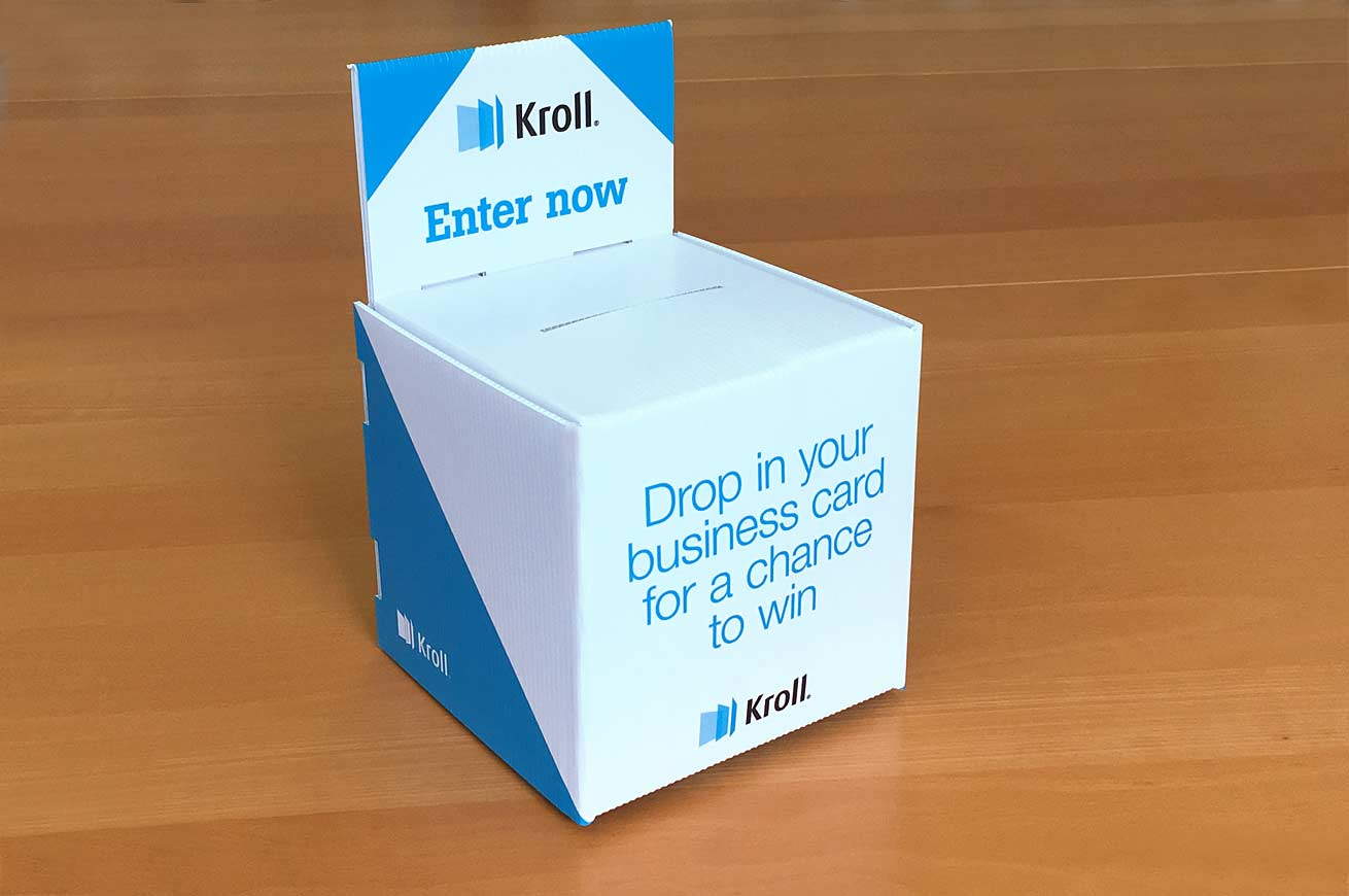 Are you a winner? Drop your card in a bespoke ballot box