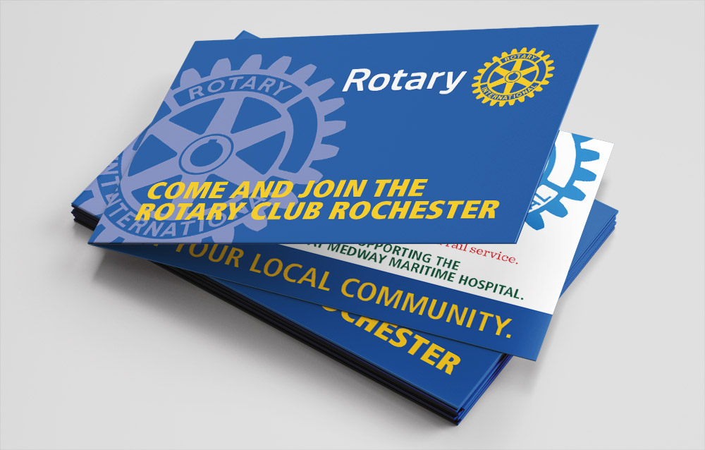 Helping The Rotary Club of Rochester gain new membership with pocket sized flyers