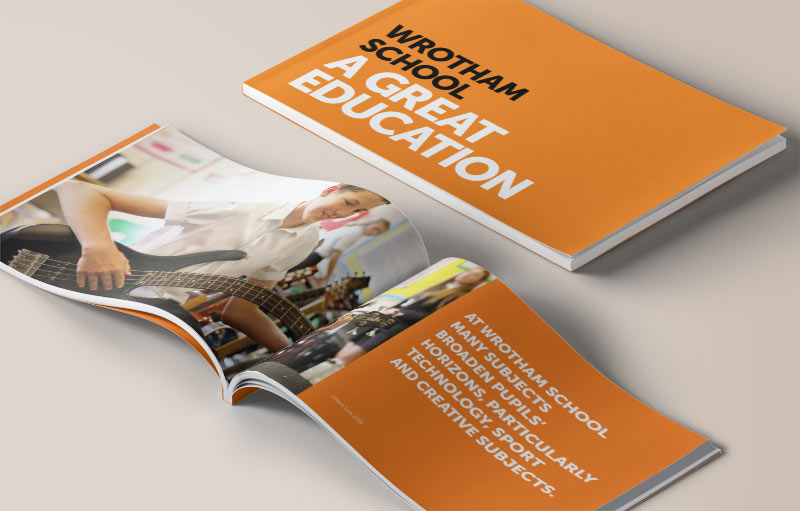 School prospectus design that showcases a great education