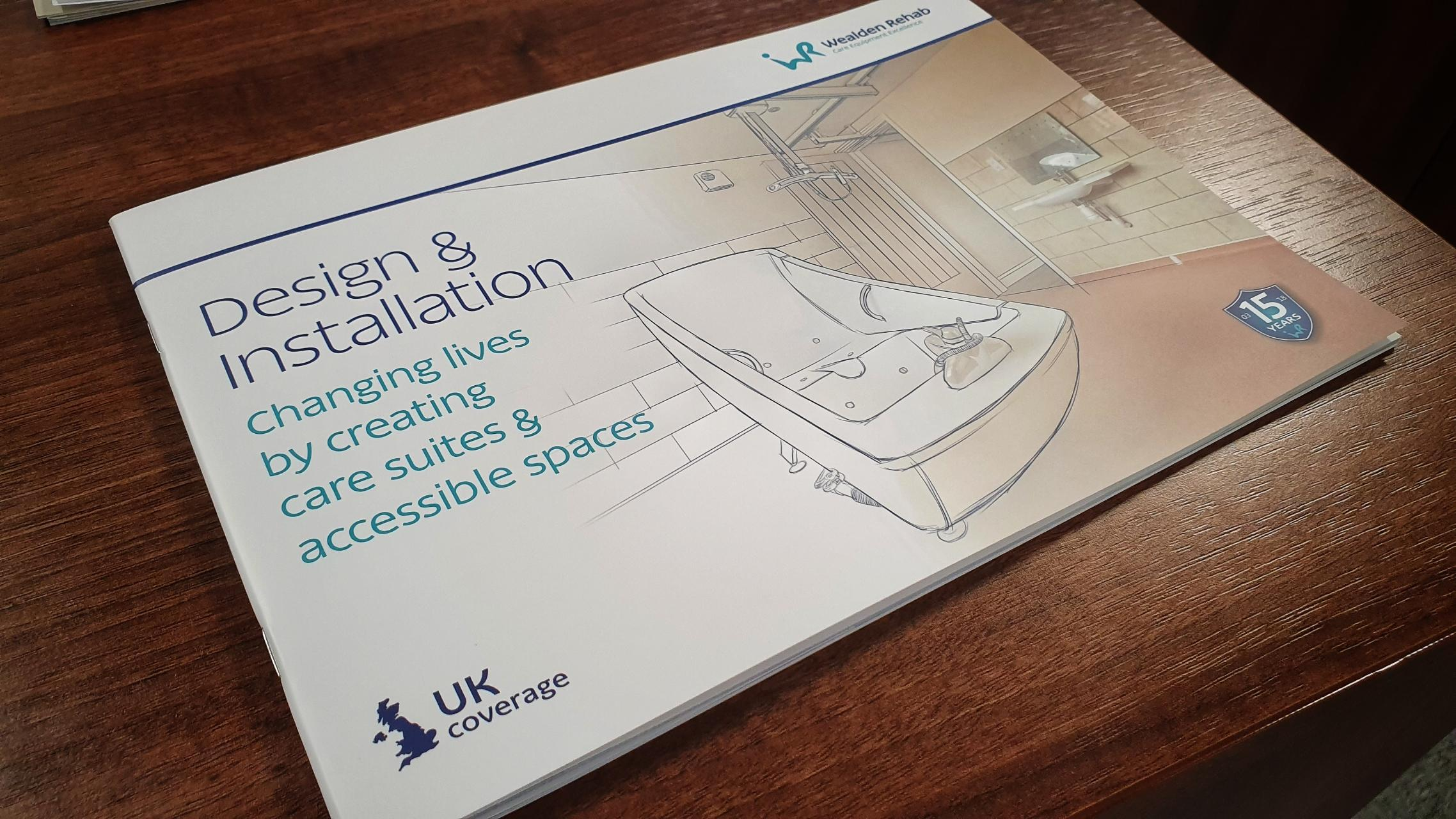 Brochure design for a Kent based care equipment company that helps change lives